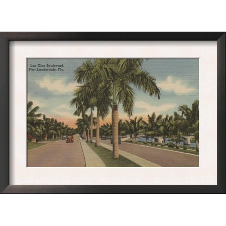ft lauderdale florida view of las olas blvd framed art print wall