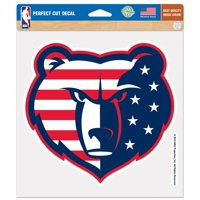 "Memphis Grizzlies WinCraft 8"" x 8"" Flag Color Decal"