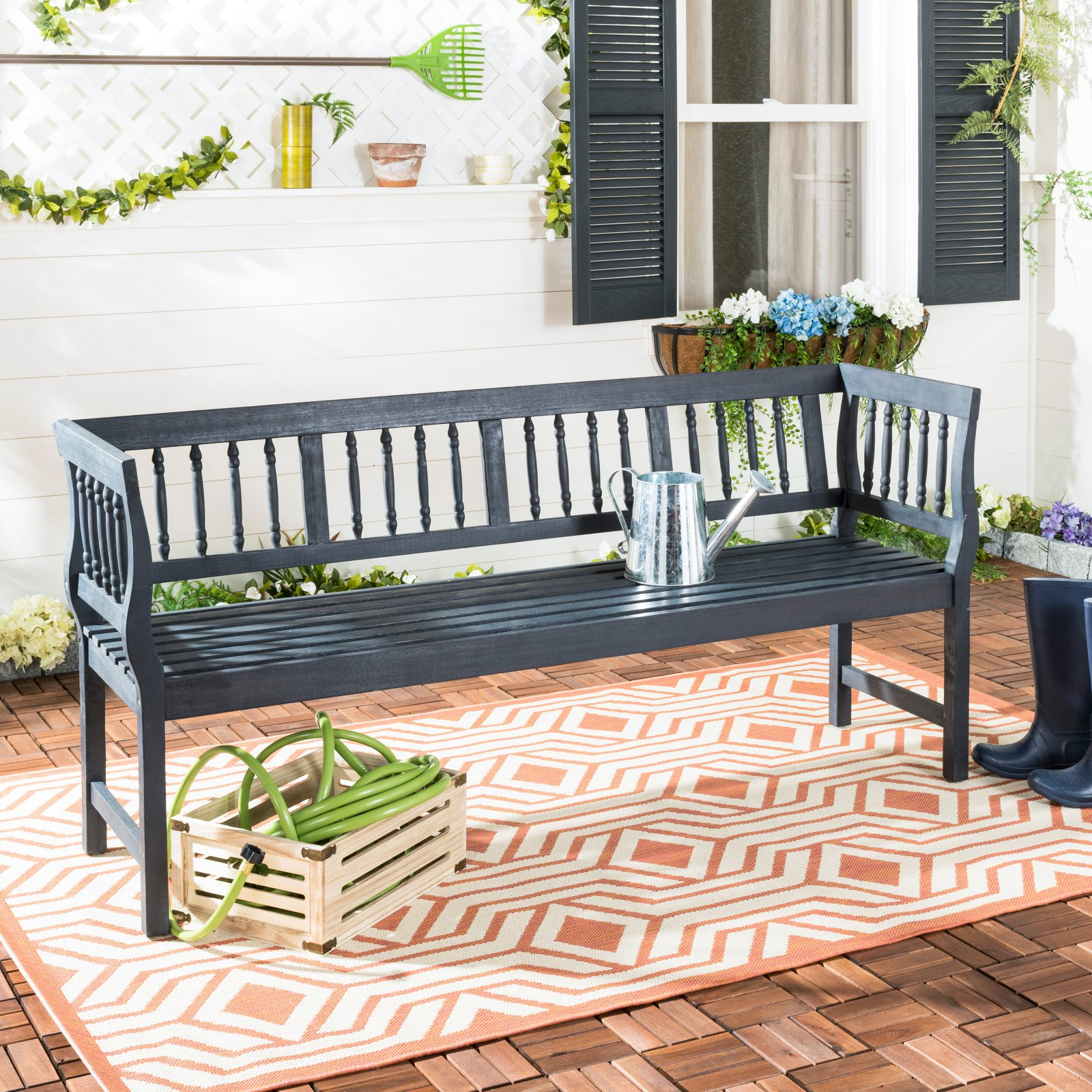 Safavieh Brentwood Indoor/Outdoor Traditional Acacia Patio Bench