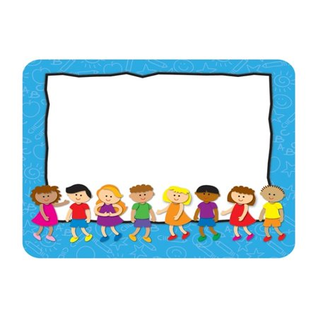 Kids Name Tags These convenient, self-adhesive name tags are ideal for labeling, reminders, calendar and homework notes, and more! Each pack features 40 name tags, measuring 3  x 2.5?. Available in a variety of prints, name tags are fun addition to any classroom!