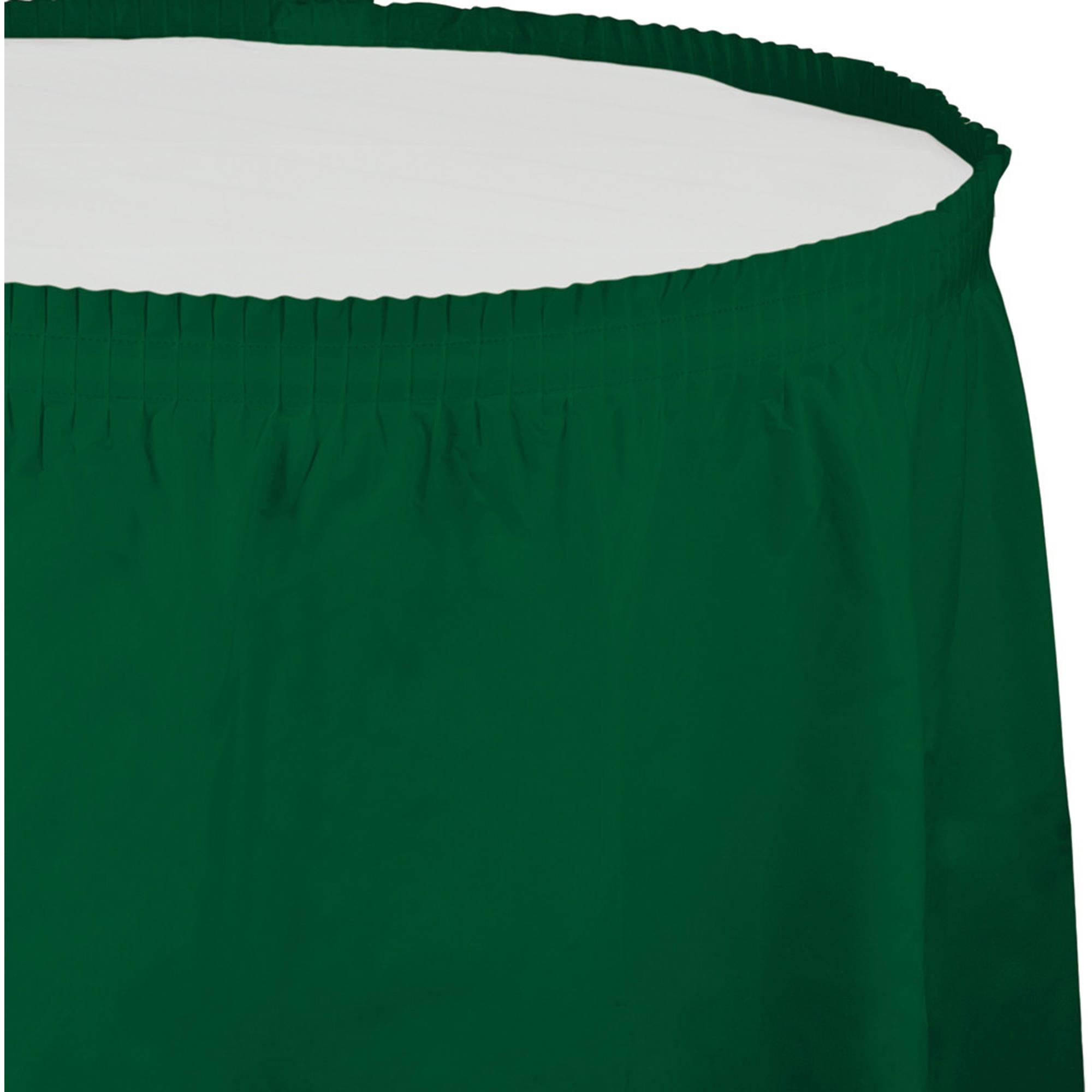 Hunter Green Plastic Tableskirt, 1-Pack