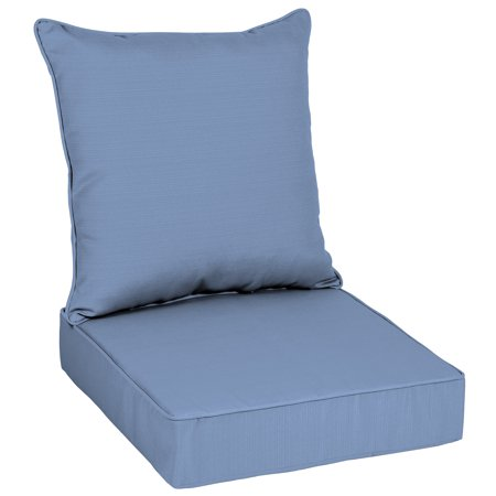 Better Homes & Gardens 48 x 24 in. Blue Outdoor Deep Seating Cushion Set ()
