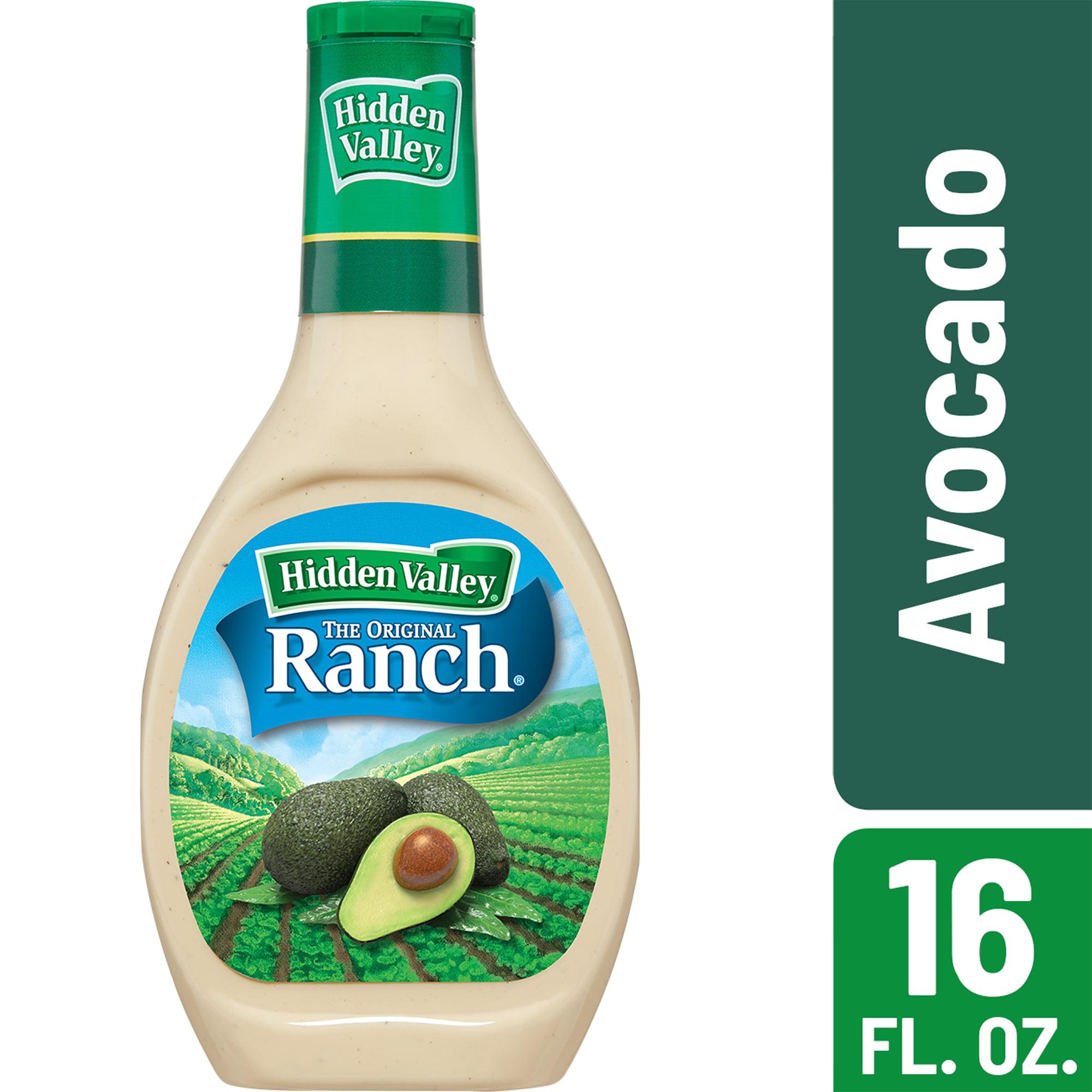Hidden Valley Avocado Ranch Salad Dressing & Topping, Gluten Free - 16 oz Bottle