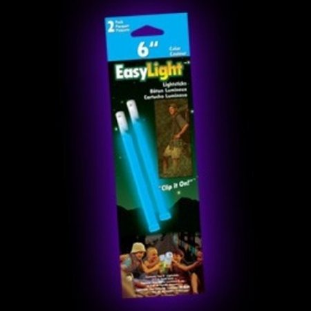 Outdoor Glow Stick -Pack of 2 (Blue, 6-Inch) Multi-Colored - Omni Glow