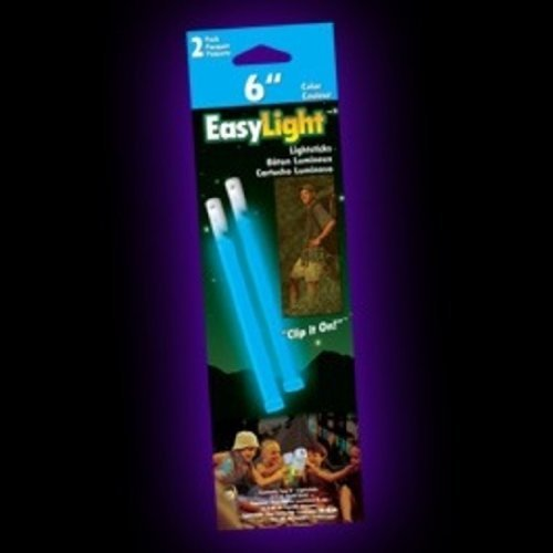 Outdoor Glow Stick -Pack of 2 (Blue, 6-Inch) Multi-Colored