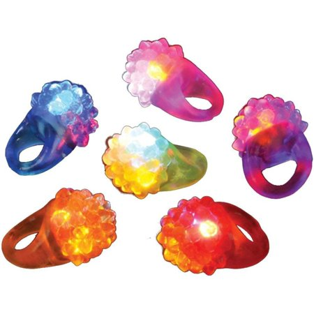 Flashing Led Bumpy Ring (Pack of 12), Great party favor By Rhode Island - Graduation Novelty Items