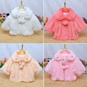 Winter Newborn Baby Girl Fur Coat Cloak Snowsuit Jacket Outerwear 0-3Y