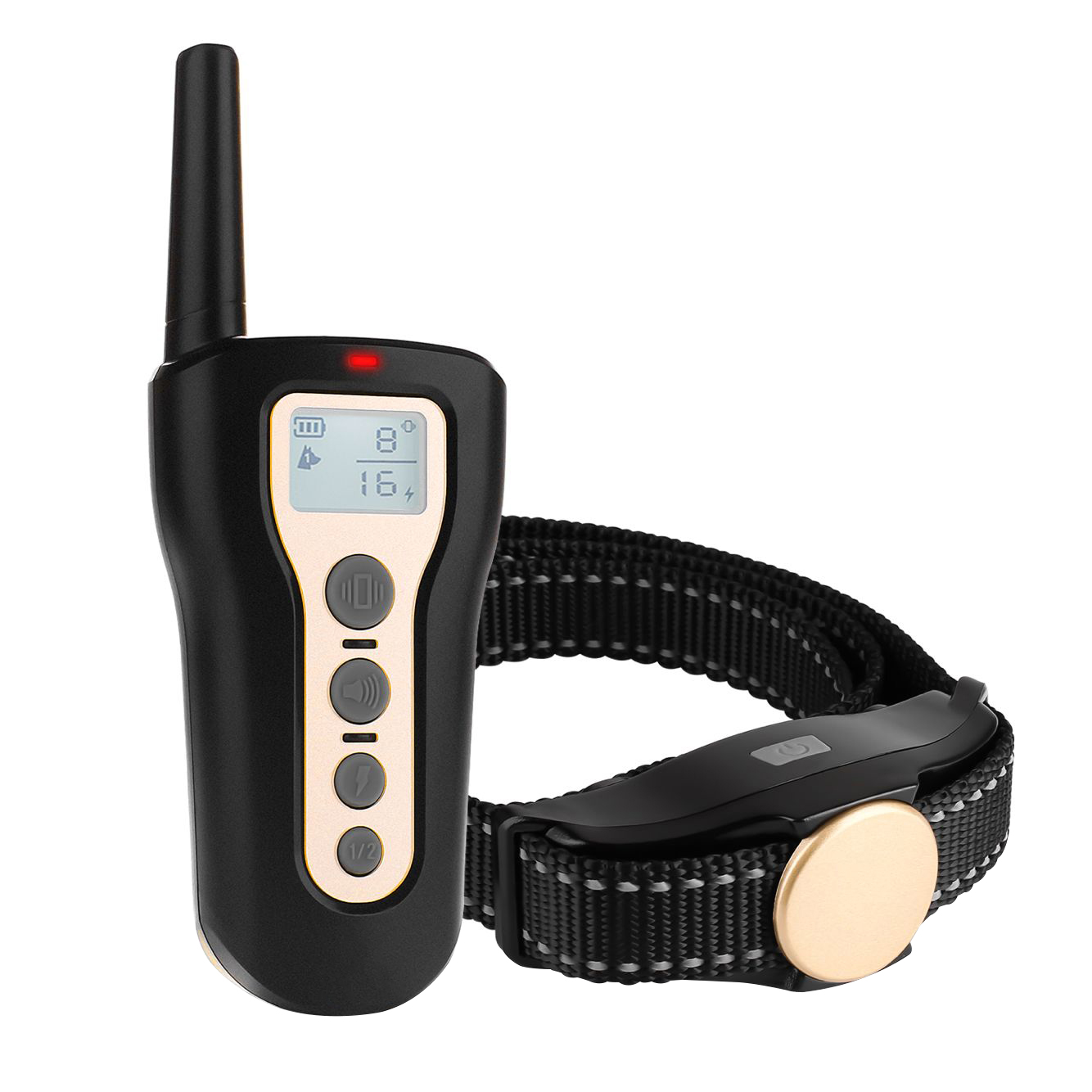 Upgraded 1000ft Remote Dog Training Collar, Waterproof Shock Collar w/ Beep Vibration