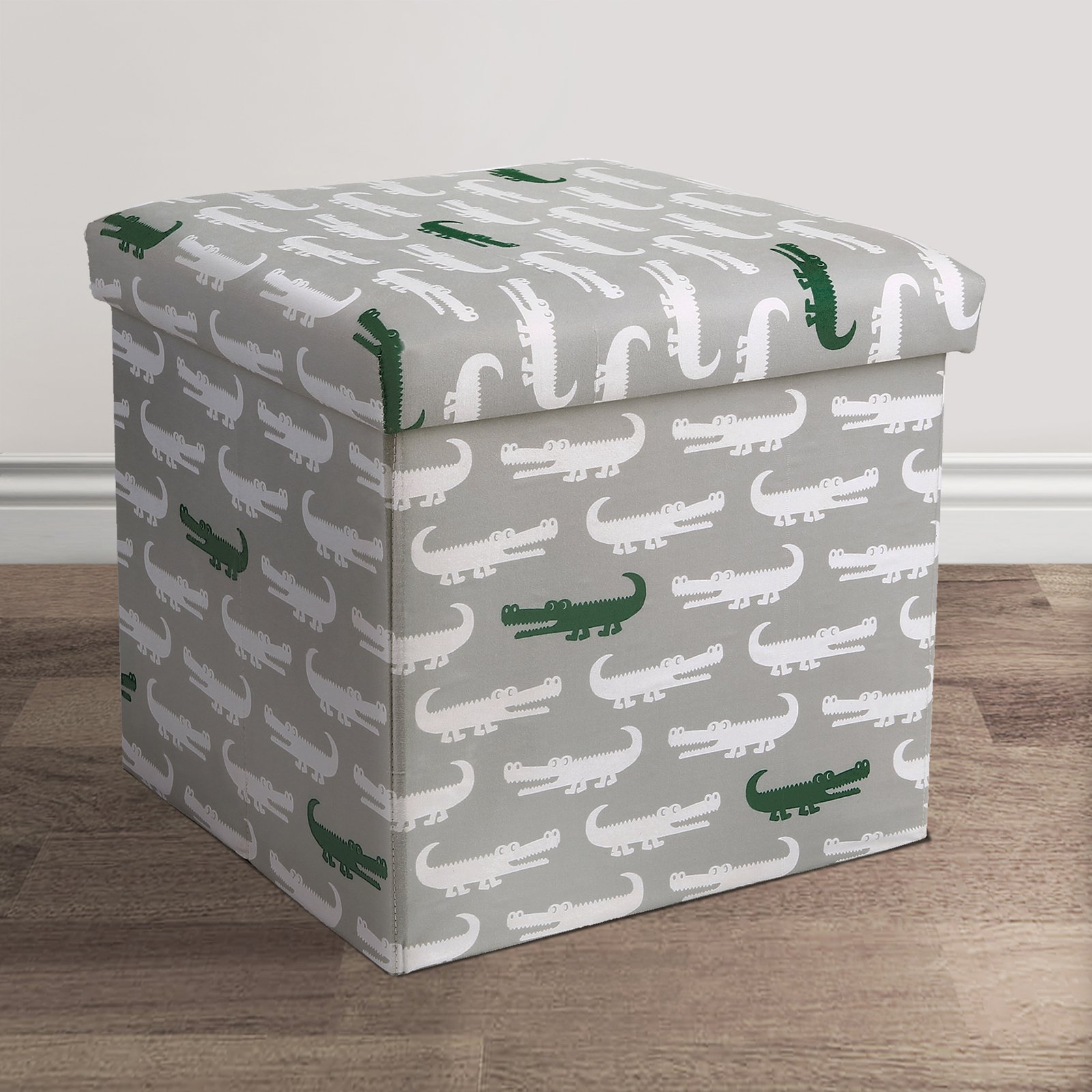 Lush Decor Alligator Collapsible Storage Ottoman