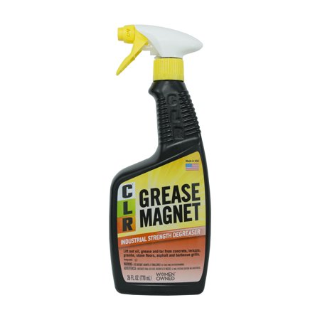 Industrial Oil (CLR Grease Magnet, Industrial Strength Degreaser, 26 Oz Spray Bottle)