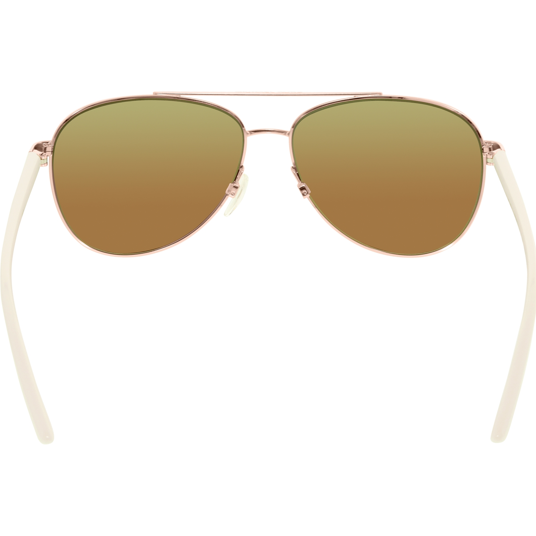 cd3b6d3926 Michael Kors - Women s Mirrored Hvar MK5007-104525-59 Rose Gold Aviator  Sunglasses - Walmart.com