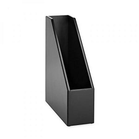 rolodex 62536 wood tones magazine file, 3 1/2w x 10 1/4d x 11 3/4h, black