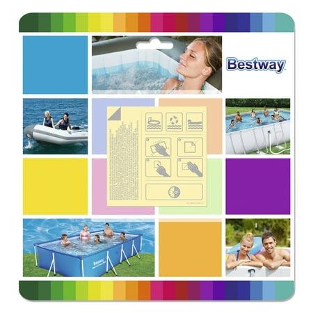 Bestway Flowclear 2.5 x 2.5 Inch Underwater Adhesive Repair Patches | (Best Way To Repair Bare Spots In Lawn)