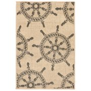 Liora Manne Terrace 1782/67 Shipwheel Neutral Area Rug 39 Inches X 59 Inches