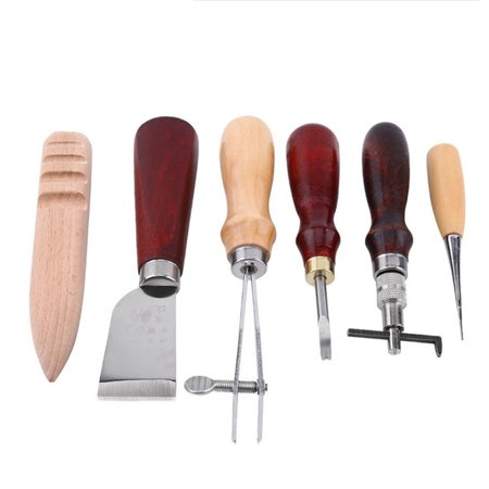 Professional 6pcs Leather Craft Tools Kit Hand Leathercraft Accessories Leather Making Tool