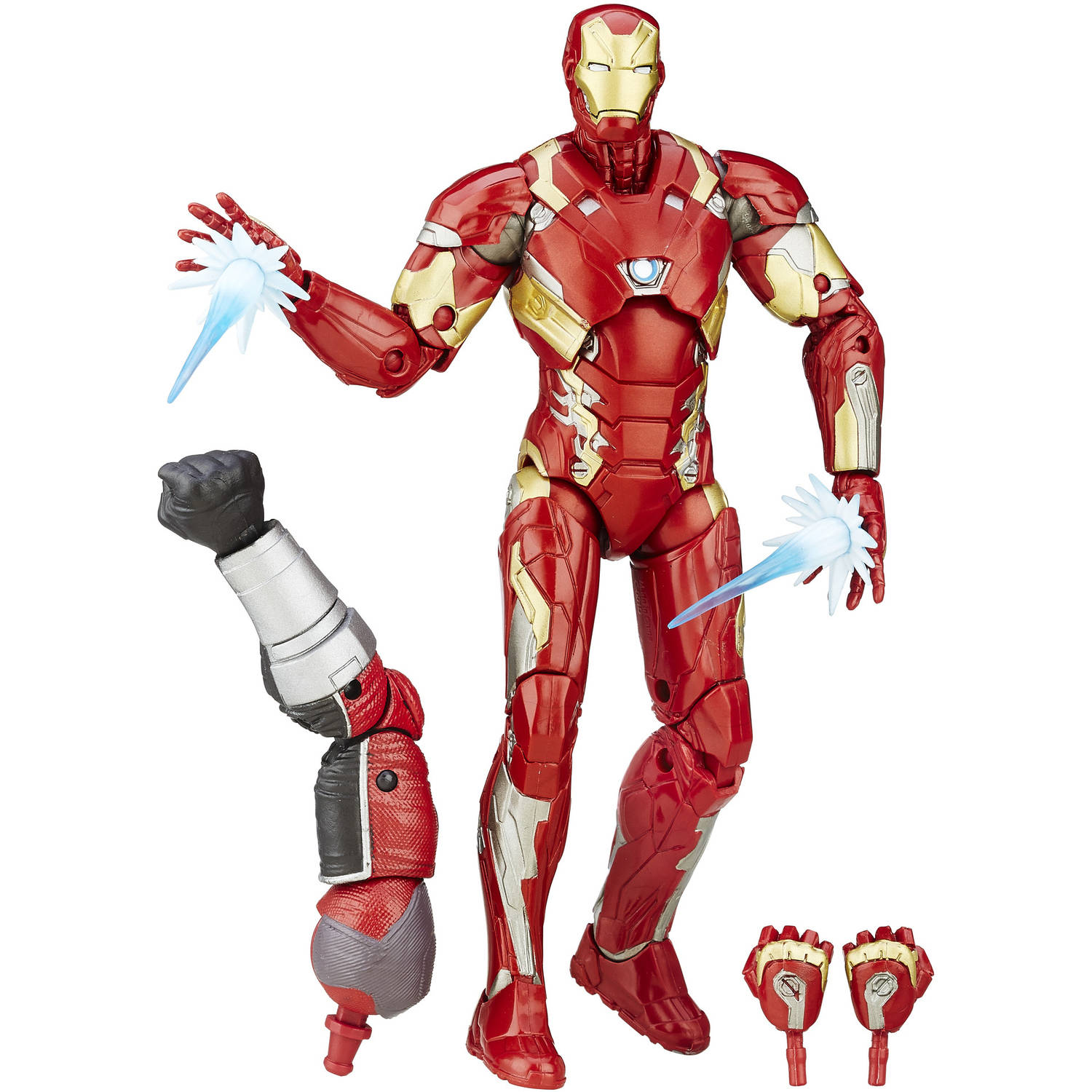 "Marvel 6"" Legends Series Iron Man Mark 46 Figure - Walmart.com"
