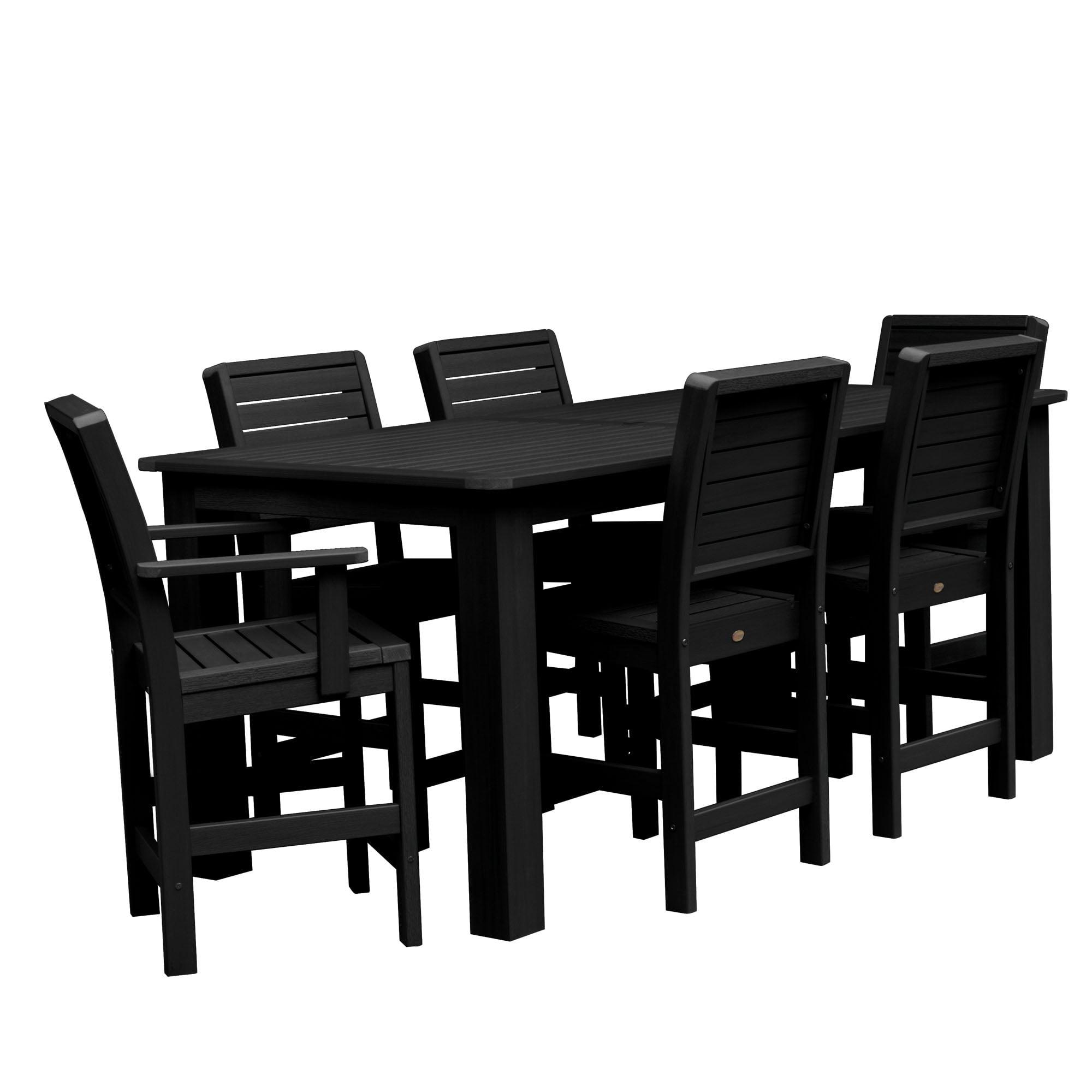 "highwood® Weatherly 7pc Rectangular Counter Height Dining Set 84""x42"""