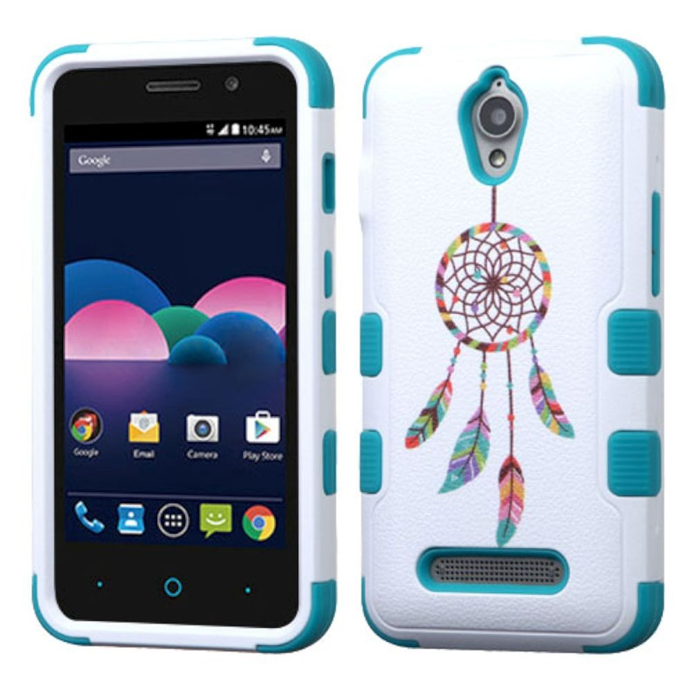 Insten Tuff Pastel Dreamcatcher Hard Hybrid Rubberized Silicone Case For ZTE Obsidian - Blue/White - image 3 of 3