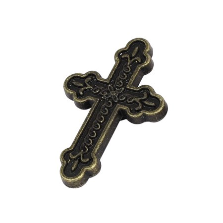 Jasmine Porcelain Cross Handle (Dresser Cabinet Retro Style Cross Shaped Pull Handle Knob 60x39x13mm)