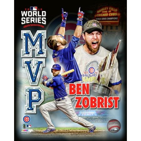 promo code b30cd 7c747 Ben Zobrist 2016 World Series MVP Portrait Plus Photo Print