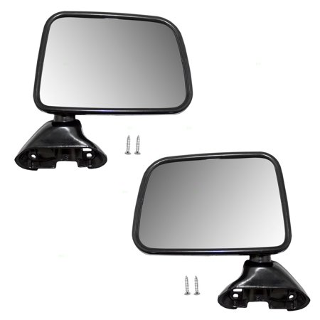 - BROCK Manual Side View Mirrors Door Skin Mounted Driver and Passenger Replacements for Toyota Pickup Truck with Vent Window 8794089141 8791089143