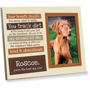A Dog's List Personalized Brown Frame - Pet Gift Frame
