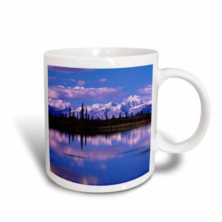 3dRose Alaska Range Mountain, pothole lake, Denali, Alaska - US02 HGA0136 - Howie Garber, Ceramic Mug, 15-ounce