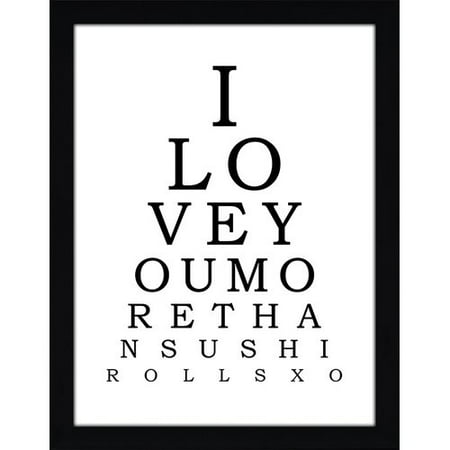 Picture Perfect International ''I Love You More Than Sushi Rolls'' Framed Textual Art