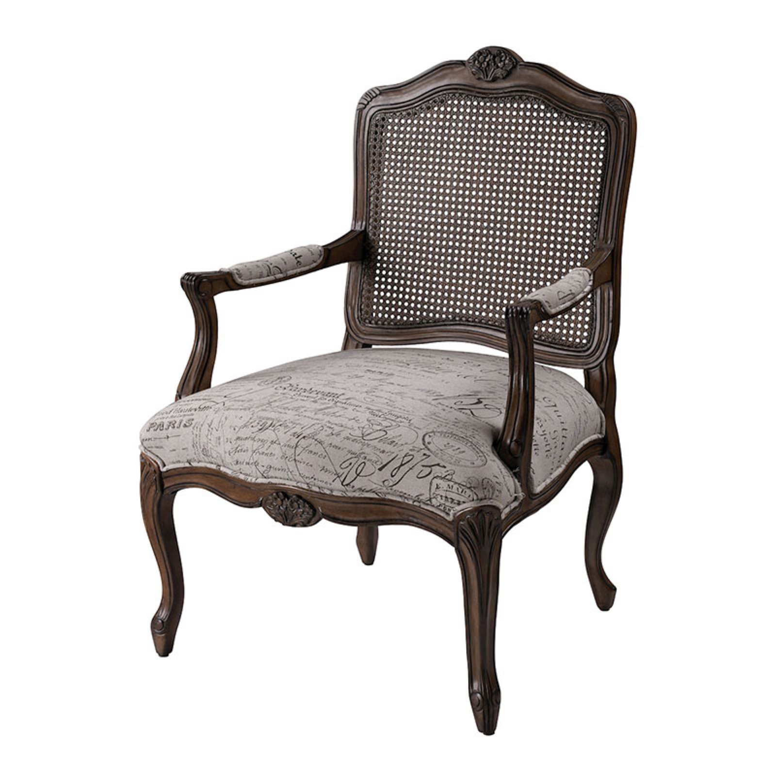 Sterling Marianne French Scroll Arm Chair