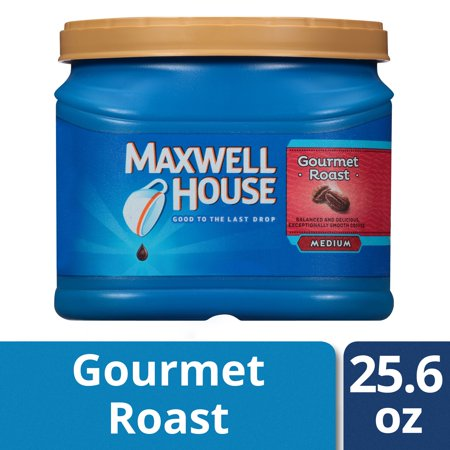 Maxwell House Gourmet Roast Medium Ground Coffee, Caffeinated, 25.6 oz Can