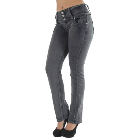 Silver Jeans Embroidered Jeans - High waist Colombian style Butt lift stretch denim Boot Leg jeans