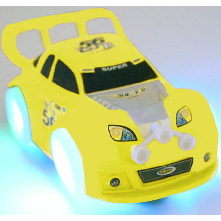 TECHEGE Toys Yellow Speedy Racing Car for Toddler Kids with Flash Lights...