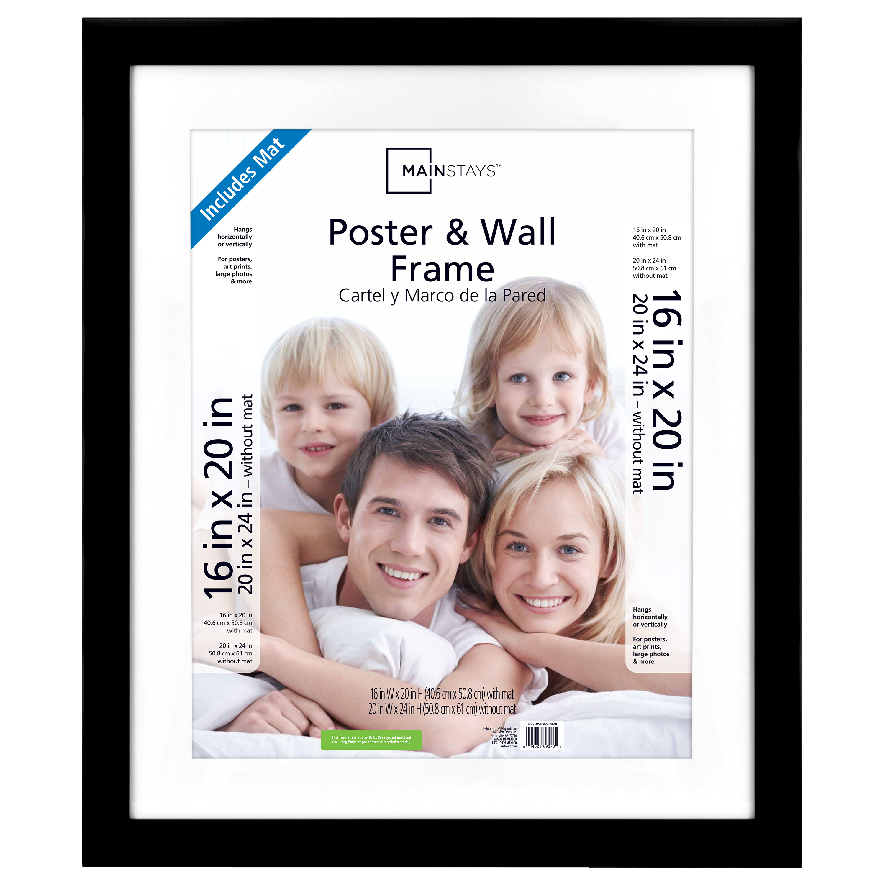 Mainstays 20 X 24 Matted To 16 X 20 Wide Black Poster And