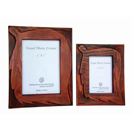 - Sunshine Trading ST-10-7 Handmade Wood Photo Frame - 5 x 7 Inch