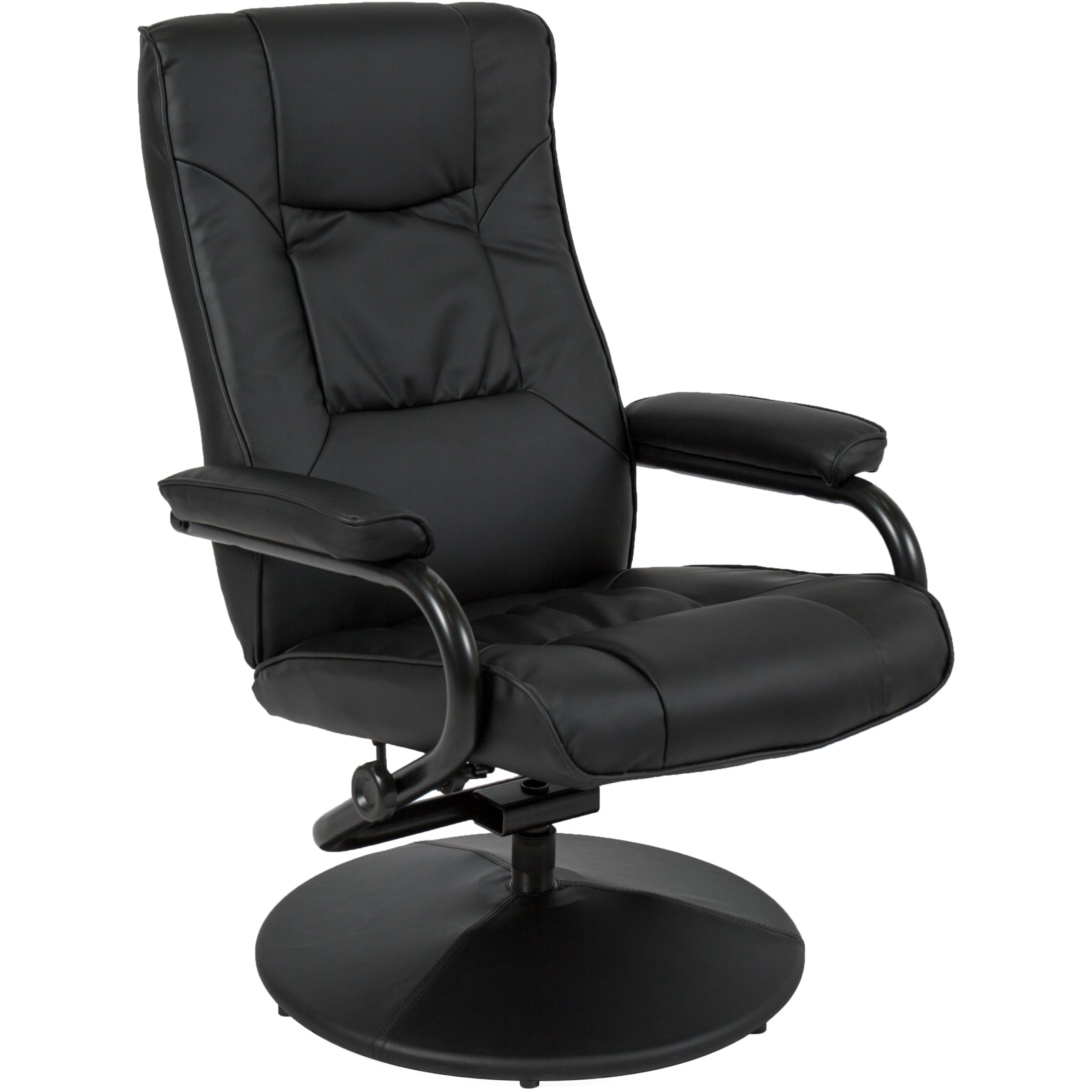 Best Choice Products Leather Swivel Recliner Chair w/ Ottoman Stool (Black) - Walmart.com  sc 1 st  Walmart & Best Choice Products Leather Swivel Recliner Chair w/ Ottoman ... islam-shia.org