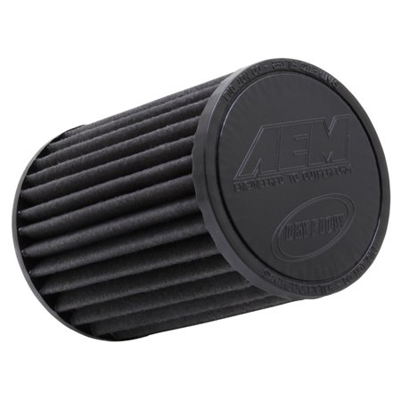 AEM 21-2057BF Universal DryFlow Clamp-On Air Filter: Round Tapered; 4 in (102 mm) Flange ID; 7 in (178 mm) Height; 5.75 in (146 mm) Base; 4.75 in (121 mm) Top