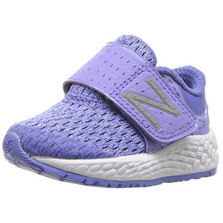 New Balance Girls' Zante v4 Hook and Loop Running Shoe, Ice VioletTwilight