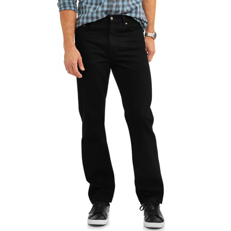 George Men's Relaxed Fit Jean Faded Black Jeans