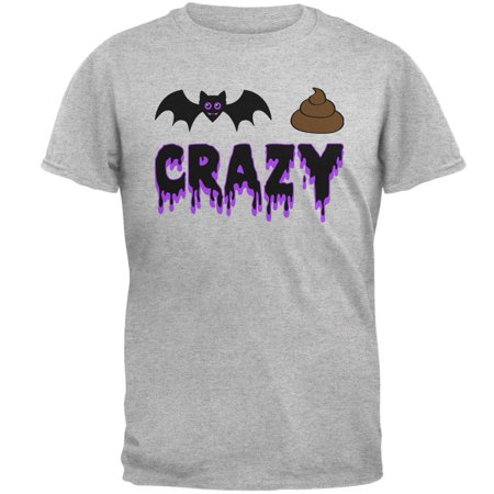 Halloween Bat Poop Crazy Mens T Shirt - Halloween Menu Ideas