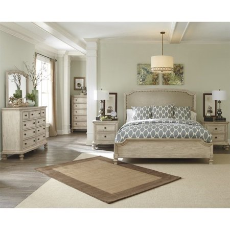 Ashley Demarlos 6 Piece Wood Queen Panel Bedroom Set In