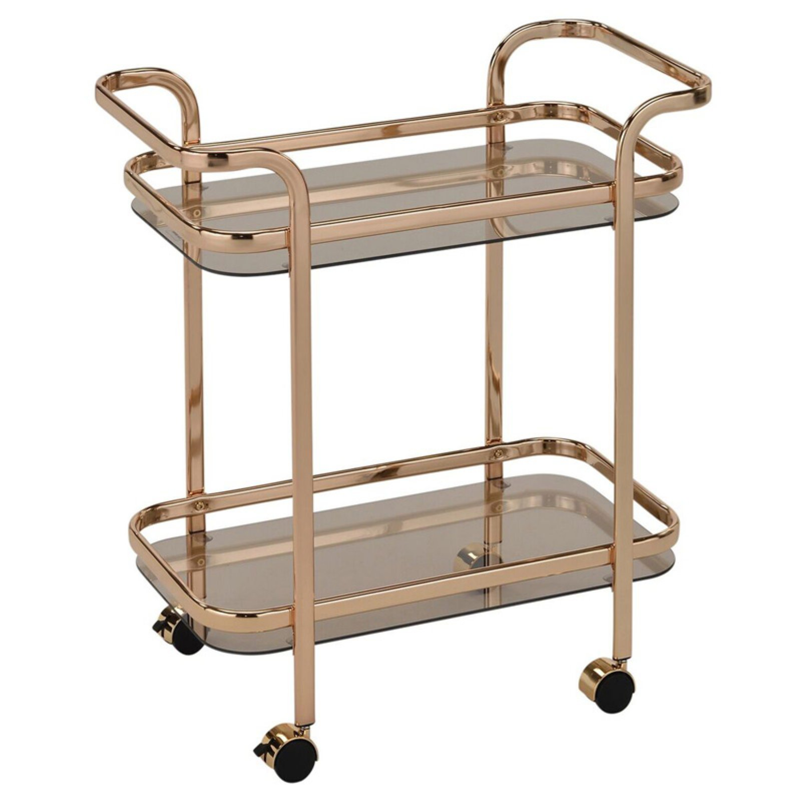 2 Tier Gold/Glass Bar Cart