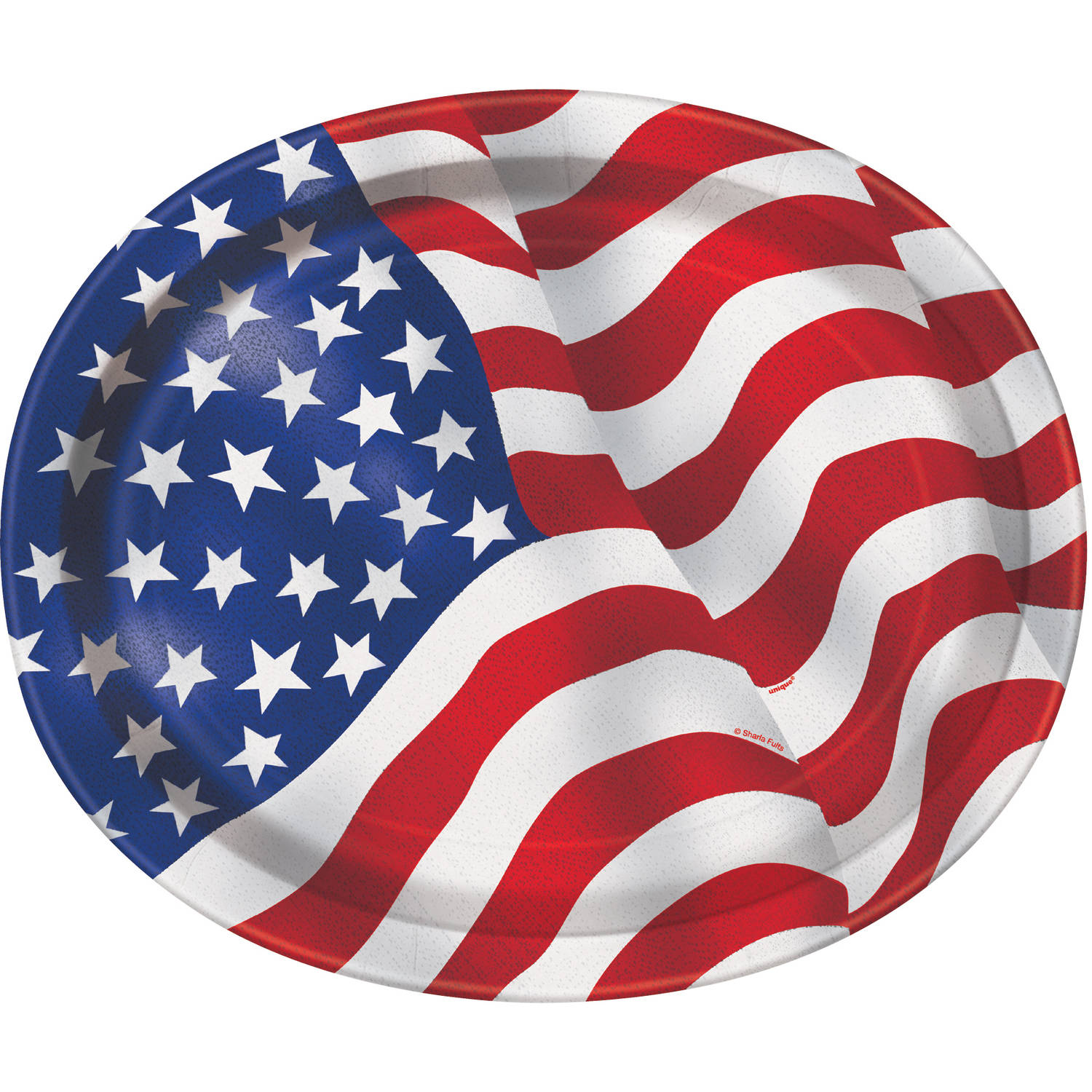 US American Flag Oval Paper Plates 12 in 8ct  sc 1 st  Walmart.com & US American Flag Oval Paper Plates 12 in 8ct - Walmart.com
