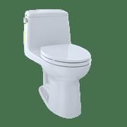 TOTO MS854114E#01 Eco Ultramax Elongated One Piece Toilet, Cotton White