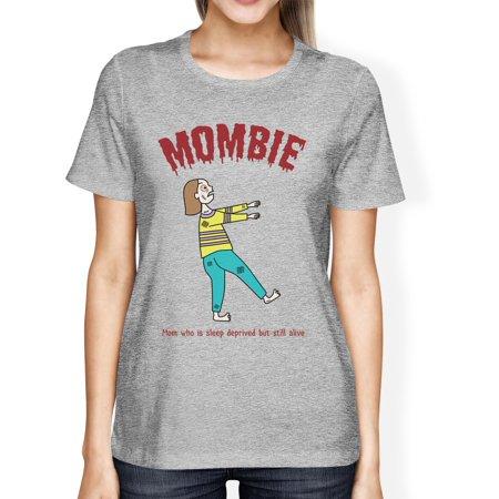 Sleep Deprived Womens Short Sleeve Halloween T-Shirt For New Moms (Halloween Shirts For Ladies)