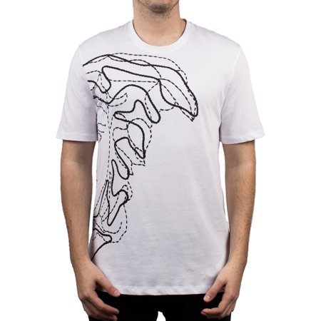 Versace Collection Men's Cotton Medusa Logo Graphic Crew Neck T-Shirt (White Versace Logo)