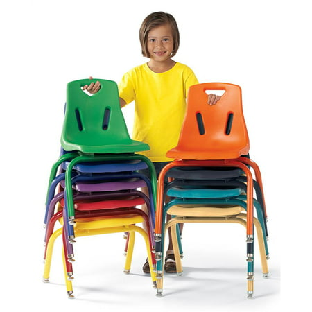 Stacking Chair with Powder Coated Legs (14.5 in. L x 16 in. W x 18 in. H (4 lbs.)-Camel)