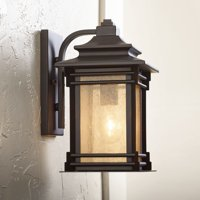 "Franklin Iron Works Hickory Point 12"" High Walnut Bronze Outdoor Wall Light"