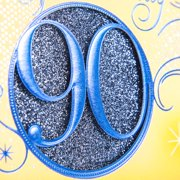 Hallmark 90th Birthday Greeting Card Blue Circle Image 4 Of 6