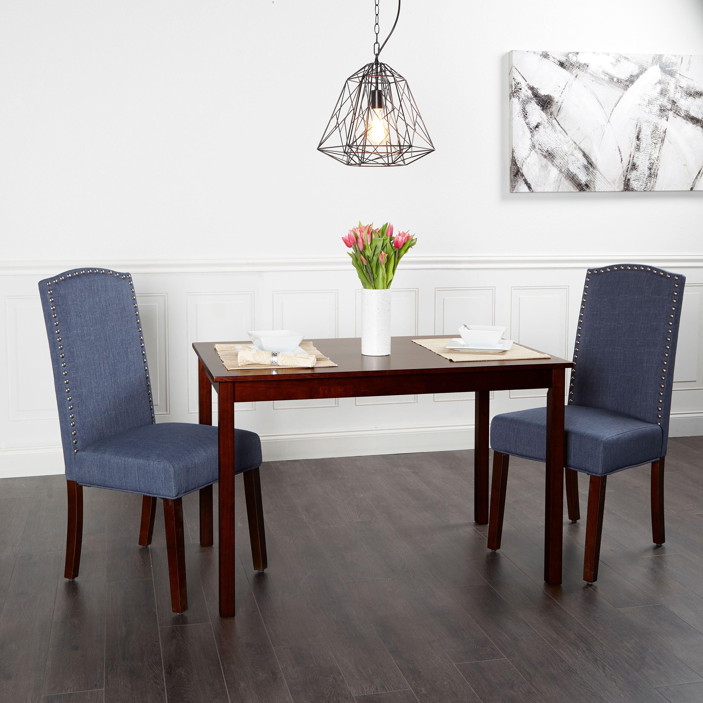 Better Homes Gardens London Faux Linen Dining Chair Set Of 2 Multiple Colors Walmart Com Walmart Com