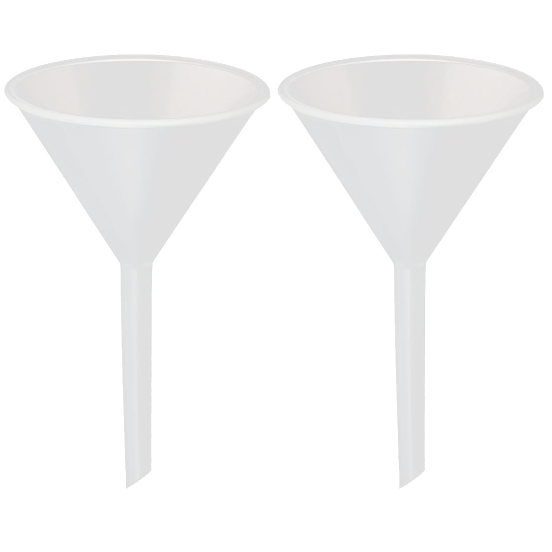 2pcs 55mm Mouth Dia Household Lab Water Oil Plastic Funnel Transfer Filling Tool by Unique-Bargains